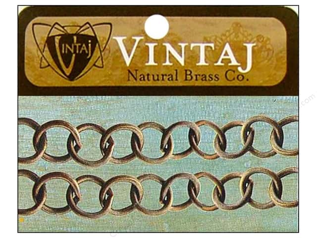 "Vintaj Findings Chain 14"" Round Link 10mm Natural Brass"