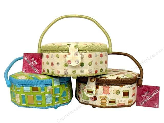 St Jane Sewing Baskets Octagon Assorted