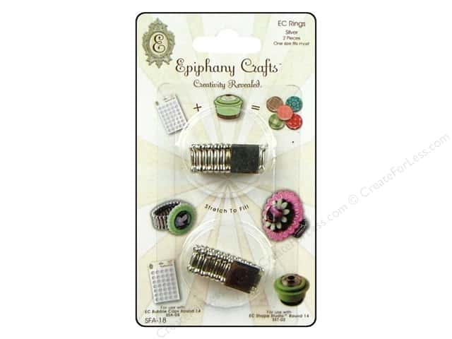 Epiphany Accessories Embellishment Stretch Ring 2pc