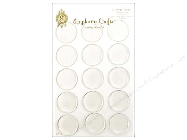 Epiphany Accessories Shape Studio Bubble Cap Round #25 Clear 15pc