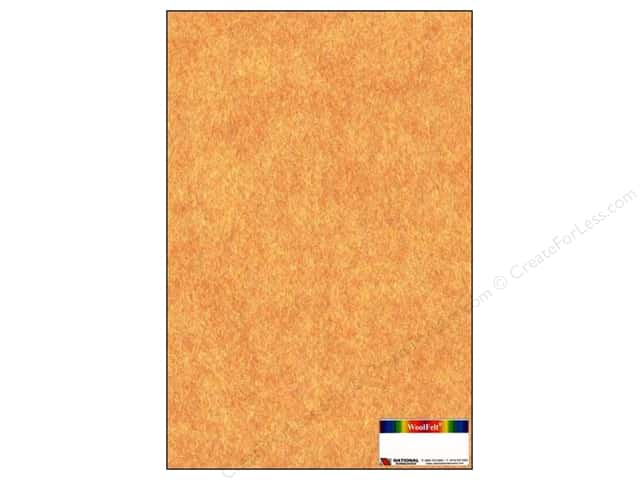 "National Nonwovens WoolFelt 12""x 18"" 20% Terracotta Mist (12 sheets)"