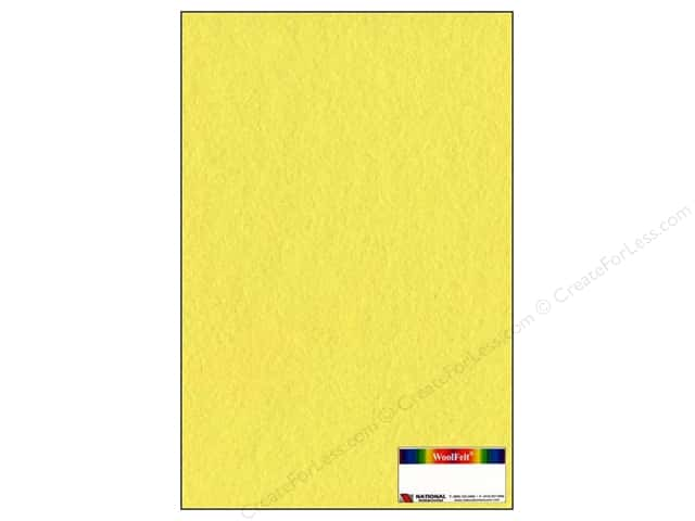 National Nonwovens WoolFelt 12 x 18 in. 20% Banana Cream (12 sheets)