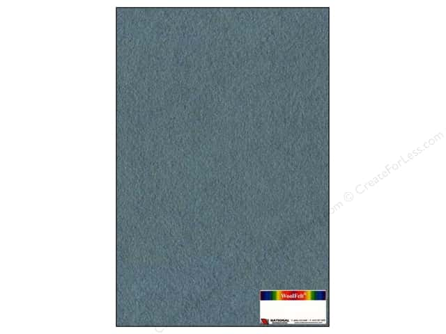 National Nonwovens WoolFelt 12 x 18 in. 35% Confederate Blue (12 sheets)