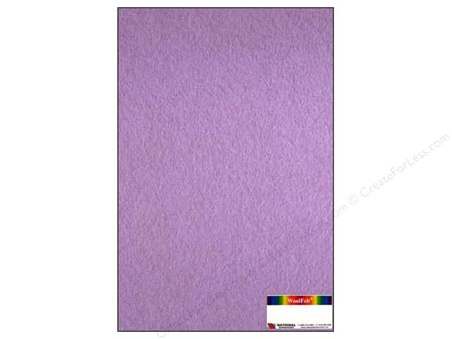 "National Nonwovens WoolFelt 12""x 18"" 35% Wisteria (12 sheets)"