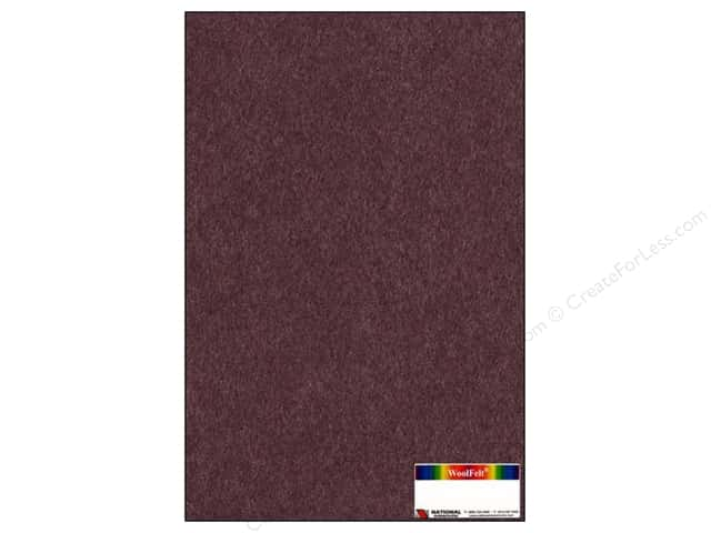 National Nonwovens WoolFelt 12 x 18 in. 35% Mahogany Rose (12 sheets)