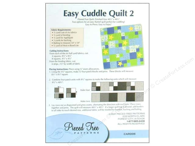 Pieced Tree Big Cards Easy Cuddle 2 Pattern