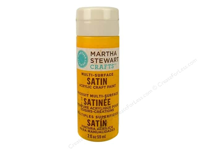 Martha Stewart Craft Paint by Plaid Satin Pollen 2oz
