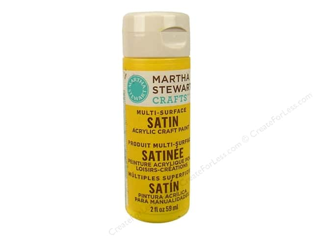 Martha Stewart Craft Paint by Plaid Satin Yellow Jacket 2oz