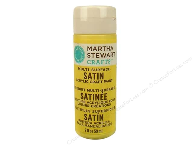 Martha Stewart Craft Paint by Plaid Satin Jonquil 2 oz.