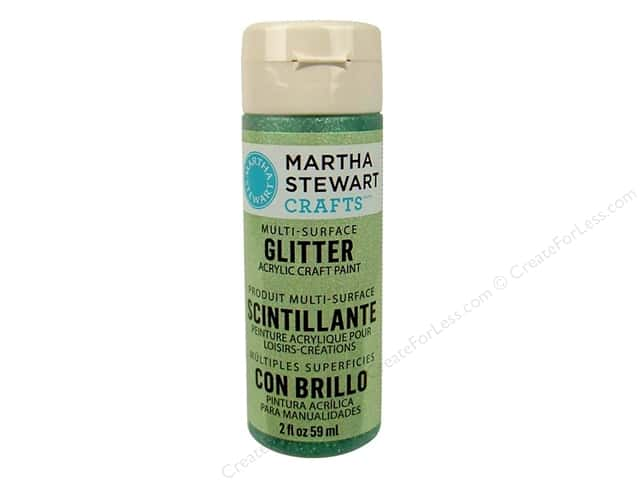 Martha Stewart Craft Paint by Plaid Glitter Aquamarine Crystal 2oz