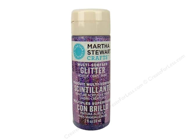 Martha Stewart Craft Paint by Plaid Glitter Purple Sapphire 2 oz.