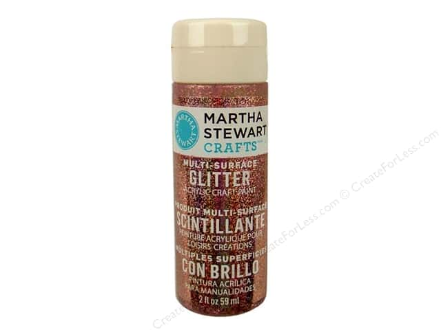 Martha Stewart Craft Paint by Plaid Glitter Rose Quartz 2 oz.