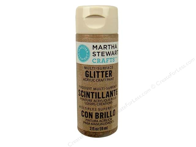 Martha Stewart Craft Paint by Plaid Glitter Smoky Quartz 2 oz.