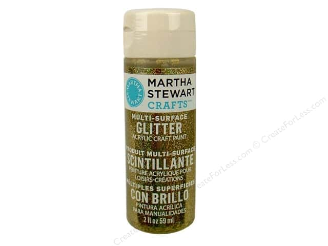 Martha Stewart Craft Paint by Plaid Glitter Florentine Gold 2 oz.