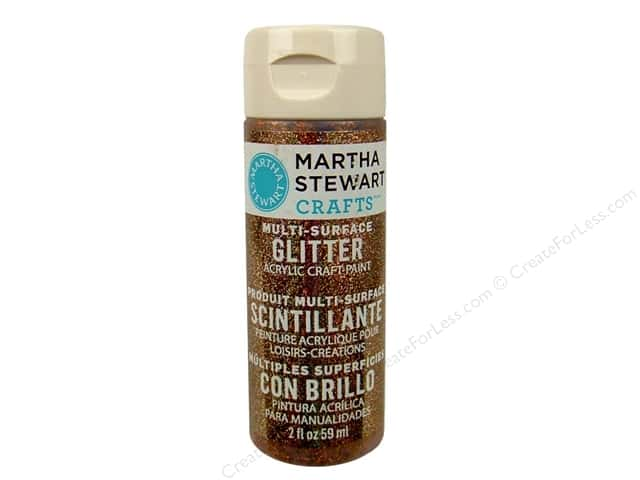 Martha Stewart Craft Paint by Plaid Glitter Copper 2 oz.
