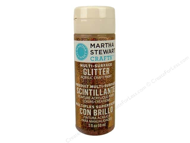 Martha Stewart Craft Paint by Plaid Glitter Sunstone 2 oz.
