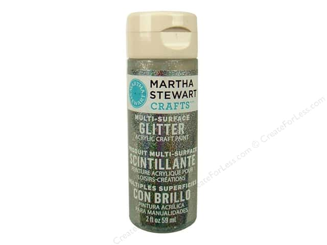 Martha Stewart Craft Paint by Plaid Glitter Sterling 2oz
