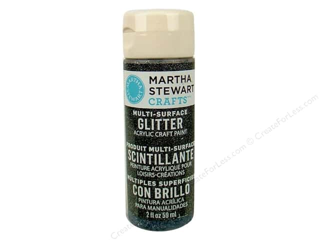 Martha Stewart Craft Paint by Plaid Glitter Obsidian 2oz