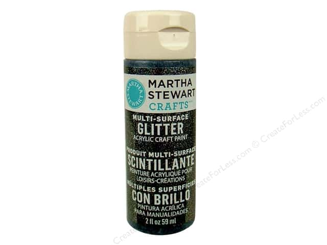 Martha Stewart Craft Paint by Plaid Glitter Onyx 2oz