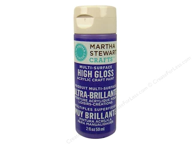Martha Stewart Craft Paint by Plaid Gloss Purple Yam 2 oz.