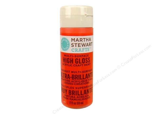 Martha Stewart Craft Paint by Plaid Gloss Geranium 2 oz.