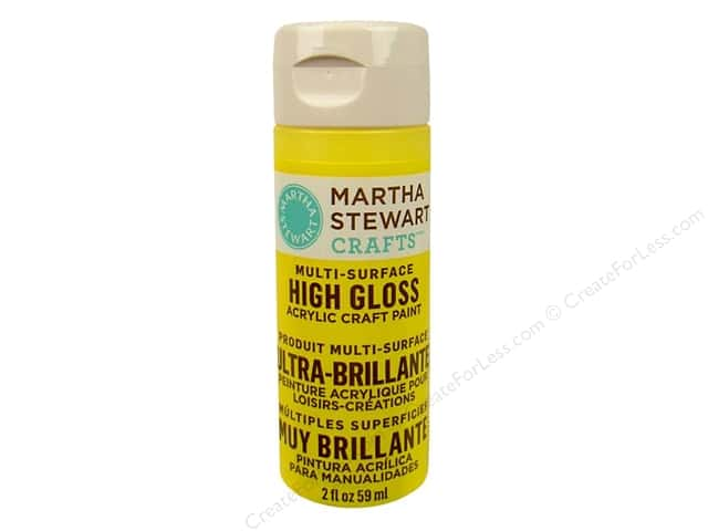 Martha Stewart Craft Paint by Plaid Gloss Chamomile 2oz