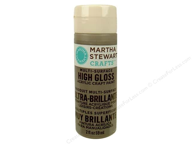 Martha Stewart Craft Paint by Plaid Gloss Grey Wolf 2 oz.