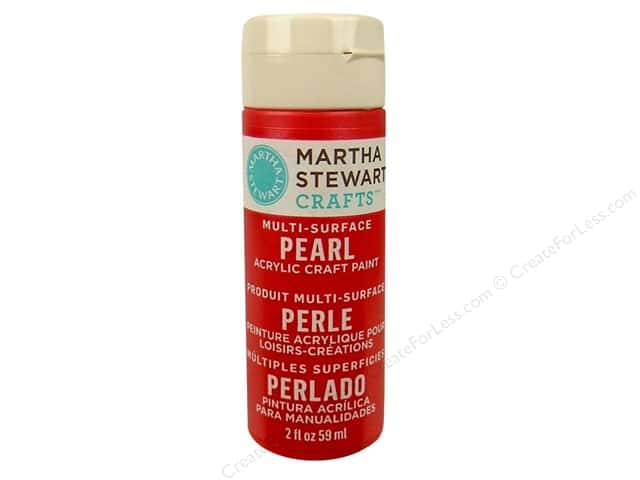Martha Stewart Craft Paint by Plaid Pearl Holly Berry 2 oz.