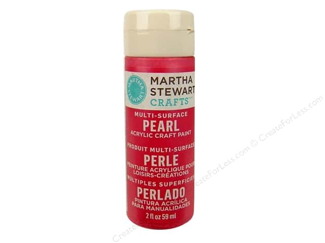 Martha Stewart Craft Paint by Plaid Pearl Fruit Punch 2 oz.