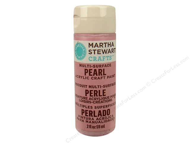 Martha Stewart Craft Paint by Plaid Pearl Antique Silk 2oz