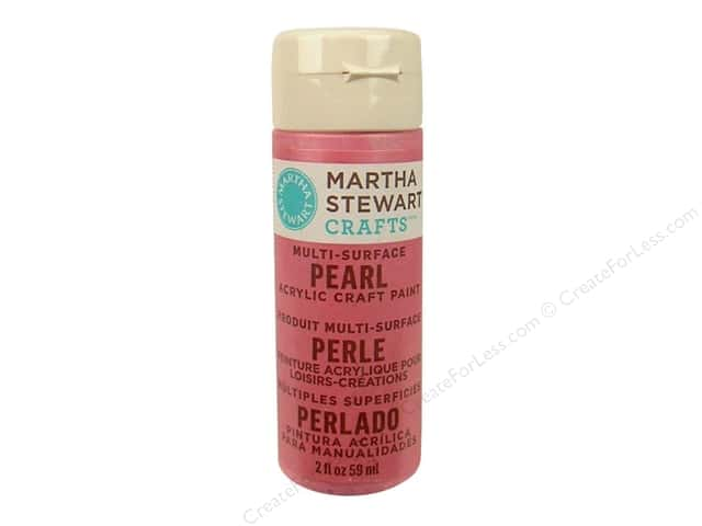 Martha Stewart Craft Paint by Plaid Pearl Pink Taffeta 2 oz.