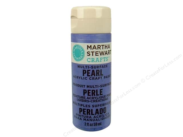 Martha Stewart Craft Paint by Plaid Pearl Twilight Blue 2 oz.