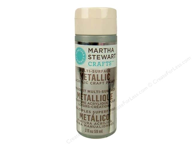 Martha Stewart Craft Paint by Plaid Metallic Sterling 2 oz.