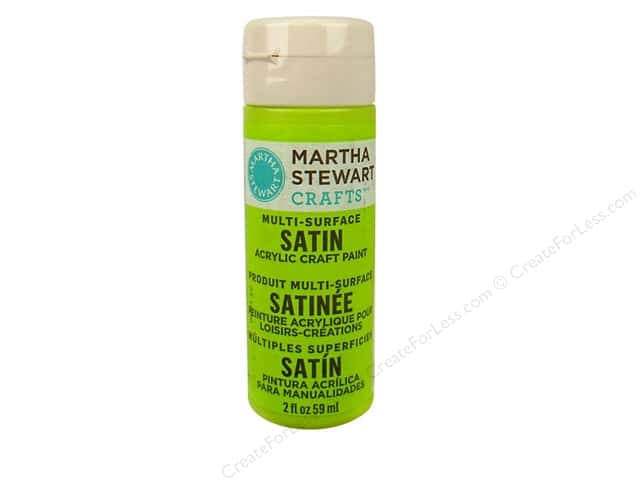 Martha Stewart Craft Paint by Plaid Satin Granny Smith 2 oz.