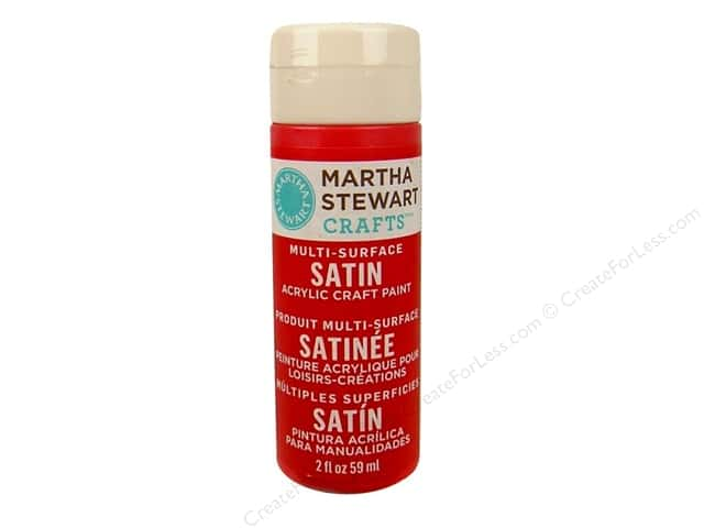 Martha Stewart Craft Paint by Plaid Satin Habanero 2oz