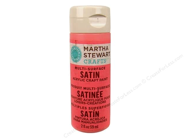 Martha Stewart Craft Paint by Plaid Satin Pink Flamingo 2 oz.