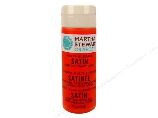 Martha Stewart Craft Paint by Plaid Satin Geranium 2 oz.
