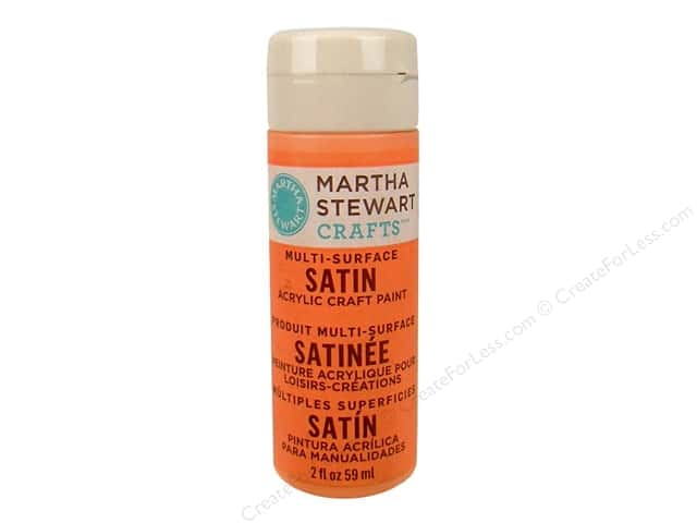 Martha Stewart Craft Paint by Plaid Satin Wild Salmon 2 oz.