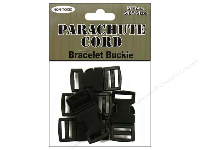 "Pepperell Parachute Cord Accessories Bracelet Buckle 5/8"" 5pc"
