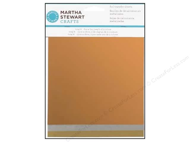 Martha Stewart Transfer Sheets by Plaid Foil Metallic 6 x 7 in.