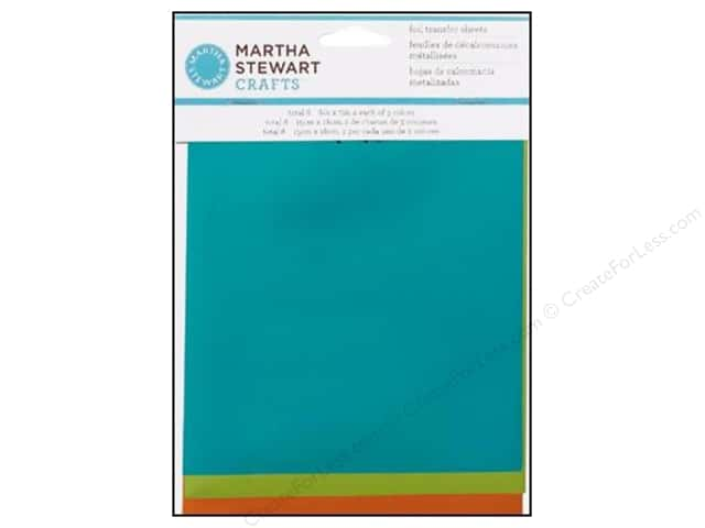 Martha Stewart Transfer Sheets by Plaid Foil Mediterranean 6 x 7 in.