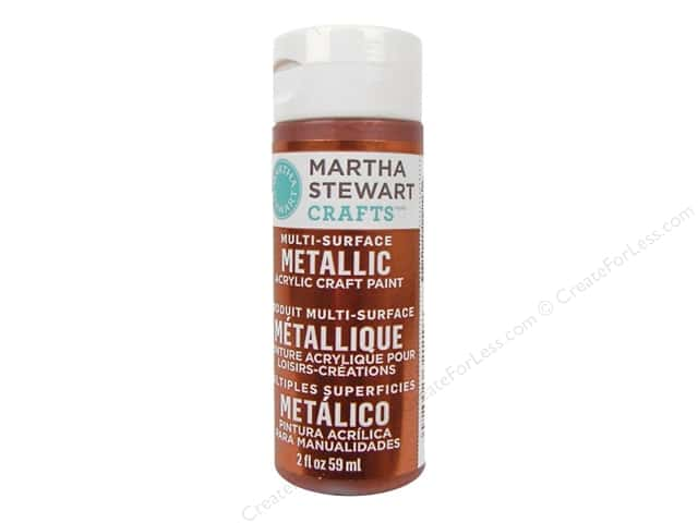 Martha Stewart Craft Paint by Plaid Metallic 2oz Rust