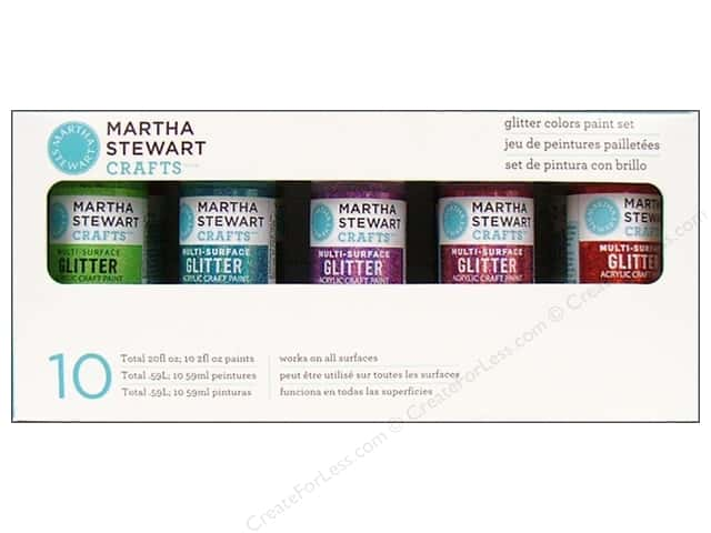Martha Stewart Craft Paint by Plaid Set Glitter