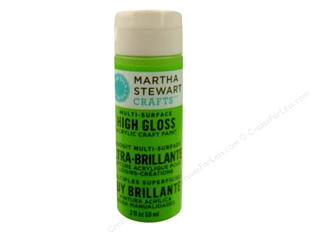 Martha Stewart Craft Paint by Plaid Gloss Green Curry 2 oz.