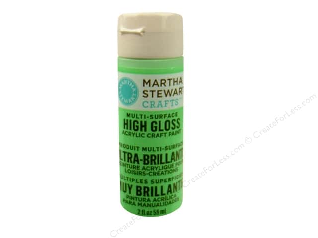 Martha Stewart Craft Paint by Plaid Gloss Pea Shoot 2 oz.