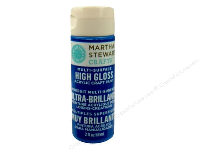 Martha Stewart Craft Paint by Plaid Gloss Indigo 2oz