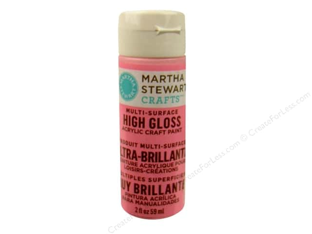 Martha Stewart Craft Paint by Plaid Gloss Peppermint Bark 2oz