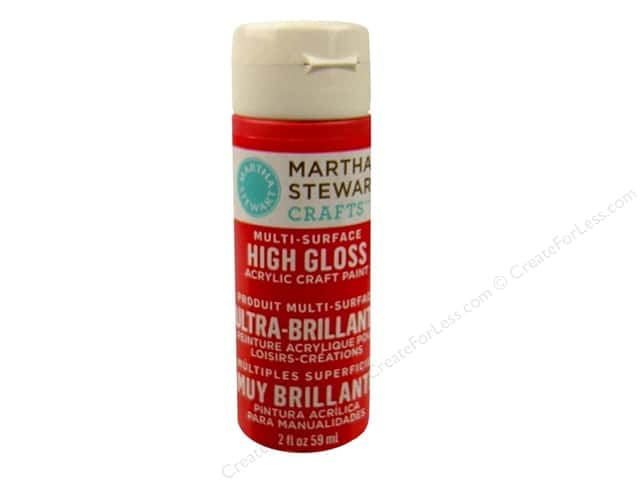 Martha Stewart Craft Paint by Plaid Gloss Habanero 2oz