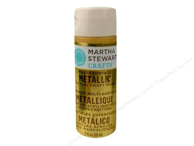 Martha Stewart Craft Paint by Plaid Metallic Yellow Gold 2 oz.