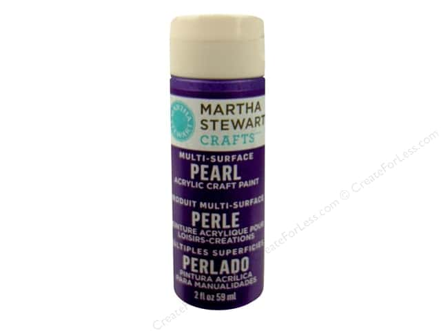 Martha Stewart Craft Paint by Plaid Pearl Purple Martini 2oz